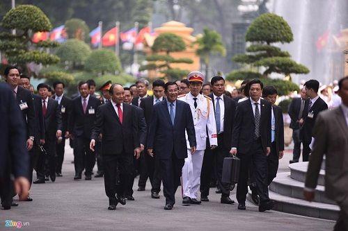 Lễ đón Thủ tướng Campuchia Hun Sen tại Hà Nội - Ảnh 6