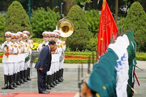 Lễ đón Thủ tướng Campuchia Hun Sen tại Hà Nội - Ảnh 4