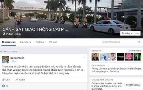 CSGT Đà Nẵng lập Facebook tiếp nhận thông tin phản ánh của dân - Ảnh 1