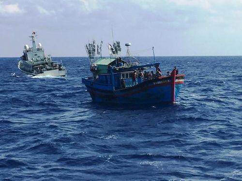 Cứu hộ thành công tàu cá cùng 7 ngư dân trôi trên biển 2 ngày  - Ảnh 1
