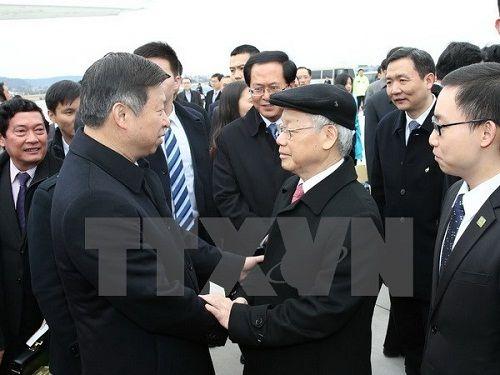 Tổng Bí thư kết thúc chuyến thăm chính thức nước CHND Trung Hoa - Ảnh 1