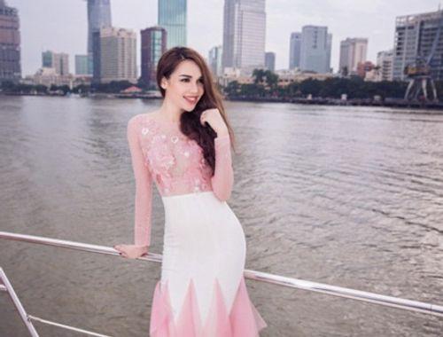 Hoa hậu Diệu Hân kiêu sa trên du thuyền bạc tỷ - Ảnh 2