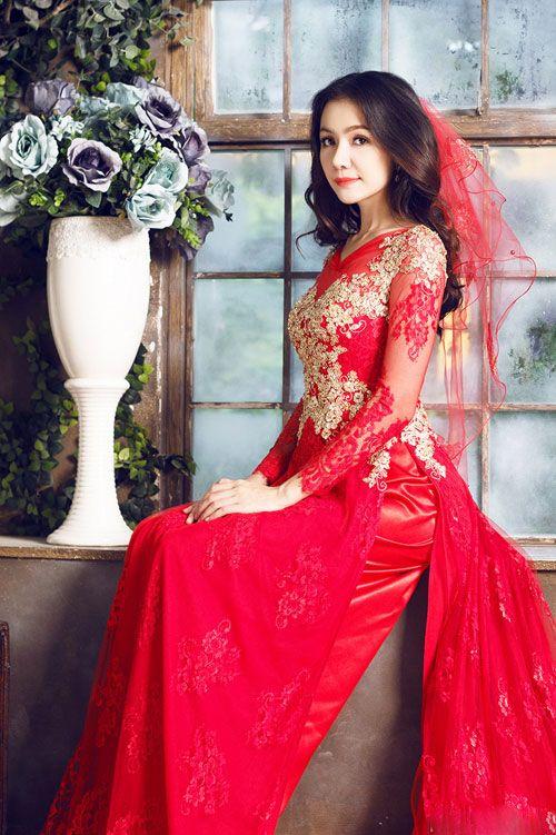 Bật mí cách chọn áo dài ăn hỏi cho cô dâu xinh đẹp - Ảnh 2