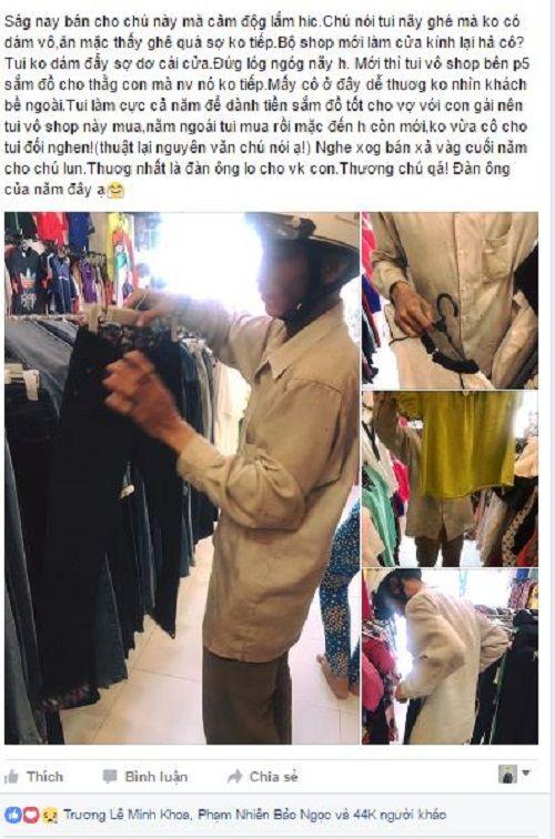 Hình ảnh người cha lam lũ đi mua đồ Tết cho con gây xúc động dân mạng - Ảnh 1