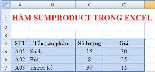 Hướng dẫn chi tiết cách dùng hàm Sumproduct trong Excel để tính công - Ảnh 1