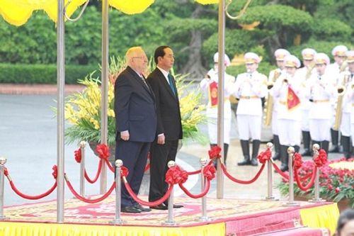 Lễ đón chính thức Tổng thống Israel tại Phủ Chủ tịch - Ảnh 2