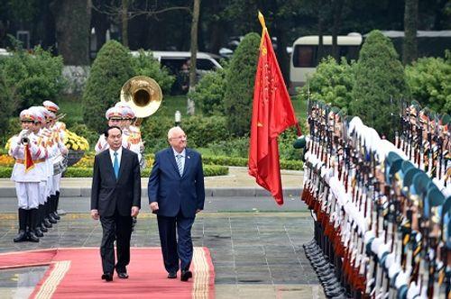 Lễ đón chính thức Tổng thống Israel tại Phủ Chủ tịch - Ảnh 4