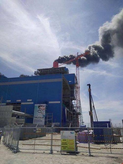 Cháy lớn tại nhà máy Nhiệt điện Vĩnh Tân 4 - Ảnh 1