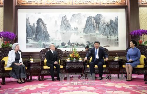 Chủ tịch Trung Quốc hội kiến Quốc vương Campuchia - Ảnh 1