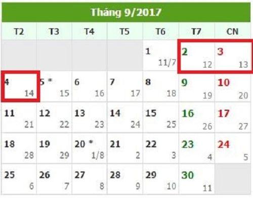 Dịp Quốc khánh 2/9, người lao động được nghỉ mấy ngày? - Ảnh 1