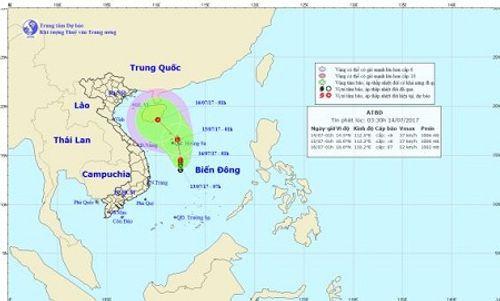 Tin tức mới nhất vùng áp thấp trên Biển Đông đang mạnh lên - Ảnh 1