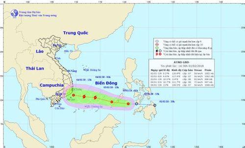 Áp thấp nhiệt đới di chuyển thần tốc, tối nay vào Biển Đông - Ảnh 1