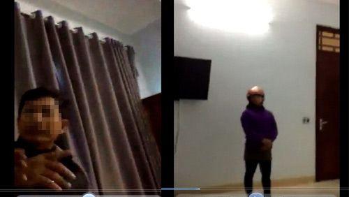 Lộ 2 clip nghi Chủ tịch xã vào nhà nghỉ với nữ cán bộ - Ảnh 1