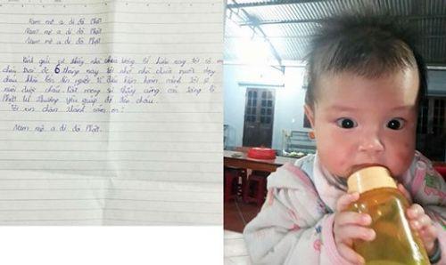 Bé trai 6 tháng tuổi bị bỏ rơi trước cổng chùa - Ảnh 1