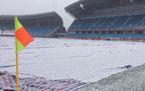 Tuyết lại rơi dày đặc ở Thường Châu, thách thức U23 Việt Nam - Ảnh 2