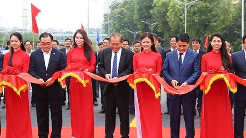 Hà Nội: Thông xe cầu vượt hơn 300 tỷ đồng nút An Dương - Thanh Niên - Ảnh 1