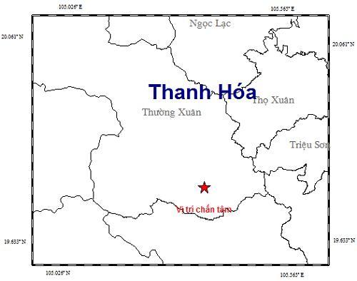 Động đất 3 độ richter ở biên giới Thanh Hóa - Ảnh 1