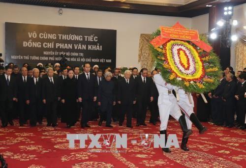 Lễ viếng nguyên Thủ tướng Phan Văn Khải - Ảnh 2