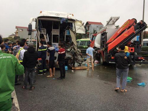 Tài xế xe khách trong vụ đâm xe cứu hỏa trên cao tốc Pháp Vân lên tiếng - Ảnh 1