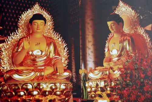Xây tượng Phật dát 30kg vàng 24k ở miền Tây - Ảnh 2