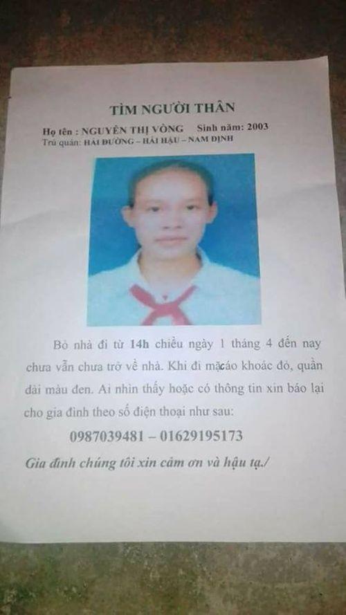 Nữ sinh lớp 9 mất tích bí ẩn cùng người đàn ông lạ mặt - Ảnh 1