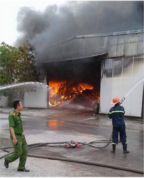 Cháy lớn tại nhà xưởng ở Hải Phòng, cột khói đen cao hàng trăm mét - Ảnh 2