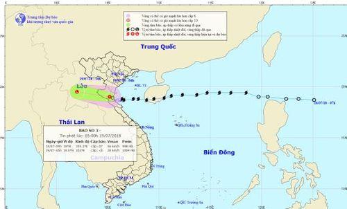 Bão Sơn Tinh suy yếu thành áp thấp nhiệt đới, cảnh báo lũ quét ở Thanh Hóa, Nghệ An - Ảnh 1
