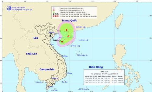 Dự báo thời tiết ngày 23/7: Áp thấp nhiệt đới giật cấp 9 gần bờ - Ảnh 1