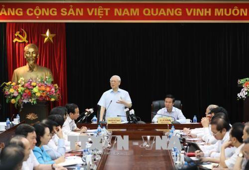 Tổng Bí thư Nguyễn Phú Trọng làm việc với Ban Tuyên giáo Trung ương - Ảnh 3