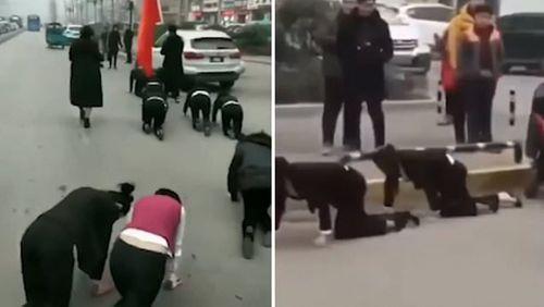 Công ty Trung Quốc phạt nữ nhân viên bò trên đường gây phẫn nộ - Ảnh 1