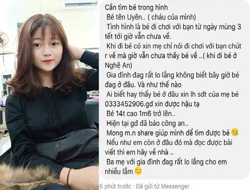 Tin tức thời sự 24h mới nhất ngày 14/2/2019: Thiếu nữ 14 tuổi mất tích bí ẩn khi về quê Nghệ An ăn Tết - Ảnh 1