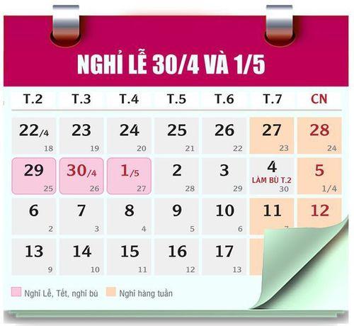Dịp Giỗ tổ Hùng Vương và lễ 30/4-1/5, người lao động được nghỉ mấy ngày? - Ảnh 2