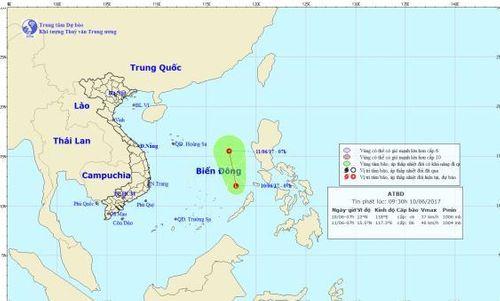 Xuất hiện vùng áp thấp trên Biển Đông - Ảnh 1