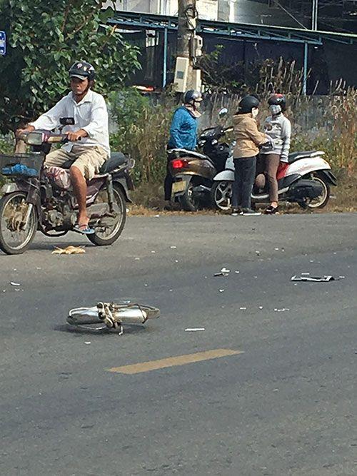 Ôtô khách va chạm với xe đạp điện, nữ sinh lớp 10 tử vong thương tâm - Ảnh 1