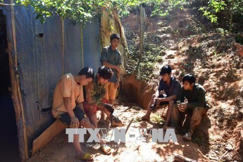 Phát hiện hầm khai thác vàng ngay trong vườn nhà dân - Ảnh 1