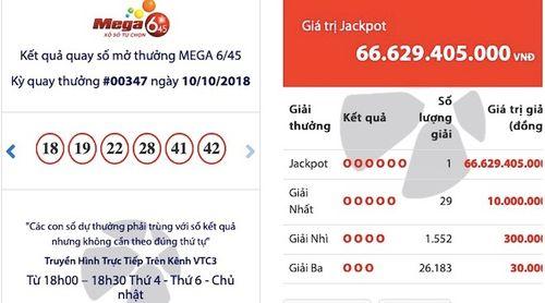 """Kết quả xổ số Vietlott ngày 10/10: Vé trúng Jackpot hơn 66,6 tỷ đồng """"nổ"""" ở Quảng Ninh - Ảnh 1"""