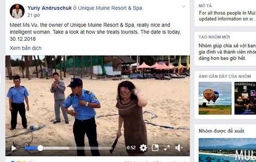 Nữ chủ resort chặt lưới bóng chuyền của khách Tây trên bãi biển nói gì? - Ảnh 1