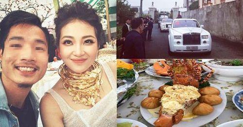 Hé lộ danh tính cô dâu đeo vàng trĩu cổ, tổ chức đám cưới trong lâu đài ở Nam Định - Ảnh 3