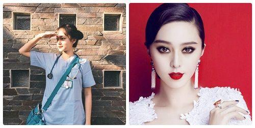 Nữ bác sĩ xinh đẹp giống Phạm Băng Băng gây sốt cộng đồng mạng - Ảnh 1