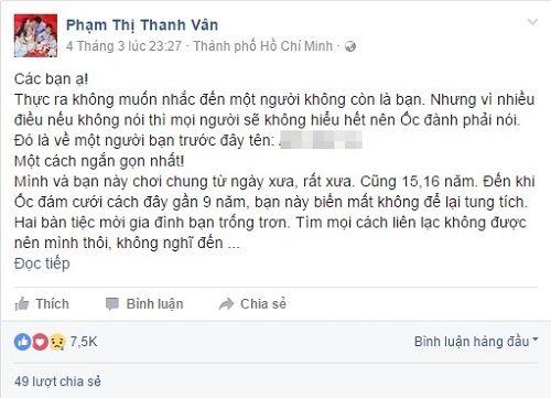 MC Ốc Thanh Vân bị bạn thân dựng chuyện rồi lừa tiền người khác - Ảnh 1