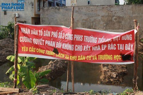 Dân phản đối dự án trạm ép rác được đặt ngay cạnh khu dân cư và trường học - Ảnh 3