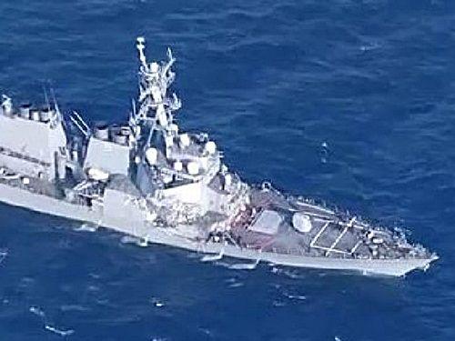 Tàu chiến Mỹ va chạm tàu chở hàng trên biển Nhật Bản, 7 người mất tích - Ảnh 2