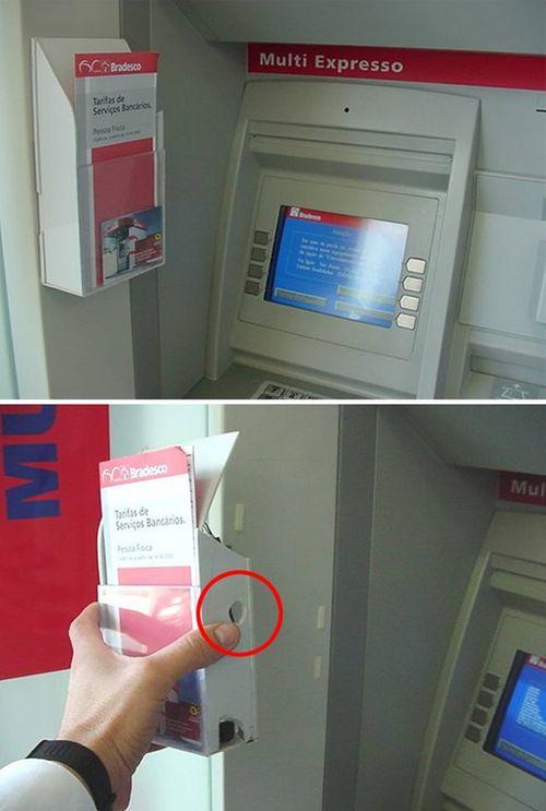 """Những cách đánh cắp mật khẩu ATM cực """"dị"""" trên thế giới - Ảnh 4"""