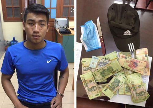 Bắt thanh niên cầm dao xông vào ngân hàng cướp 200 triệu đồng - Ảnh 1