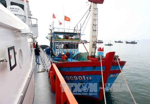 Cứu hộ thành công tàu cá và 10 thuyền viên gặp nạn trên biển - Ảnh 1