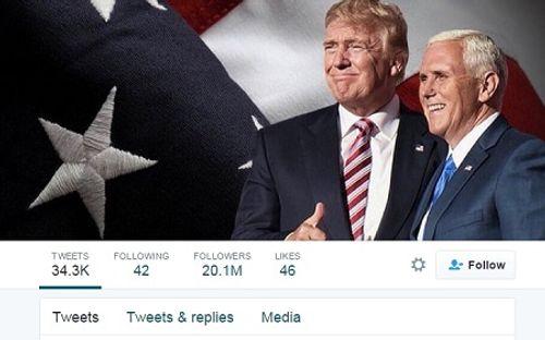 Donald Trump đạt mốc 20 triệu lượt theo dõi trên Twitter, vẫn sau Obama - Ảnh 1