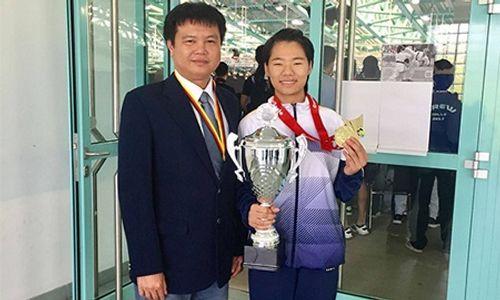 Nữ võ sỹ Việt Nam xuất sắc giành Huy chương vàng lịch sử ở giải Karatedo Thế giới - Ảnh 1