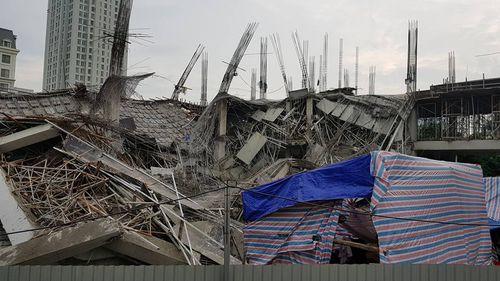 Hà Nội: Trường mầm non hàng nghìn mét vuông đổ sập, chưa rõ thương vong - Ảnh 1
