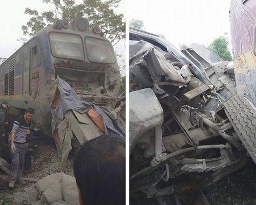Ninh Bình: Tàu chở khách đâm ôtô, đường sắt Bắc - Nam tê liệt suốt 3 giờ - Ảnh 1
