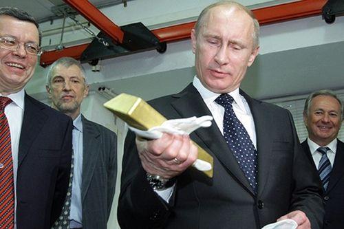 Kho vàng dự trữ hơn 1.800 tấn dưới thời Tổng thống Putin - Ảnh 1